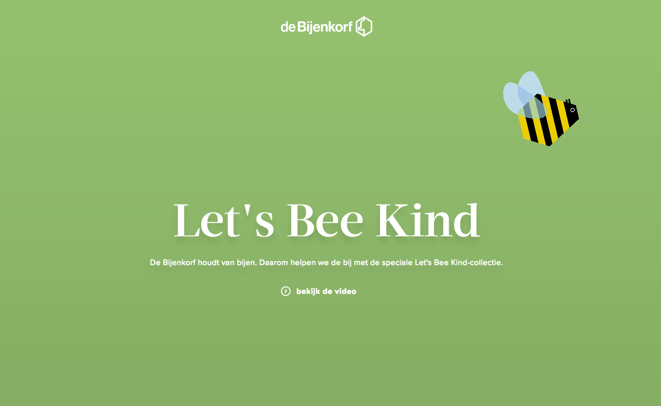 Let's Bee Kind campagne Bijenkorf scoort