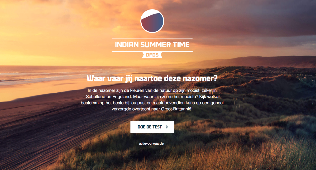 Icemedia ontwikkelt Indian Summer Time-campagne voor DFDS Seaways