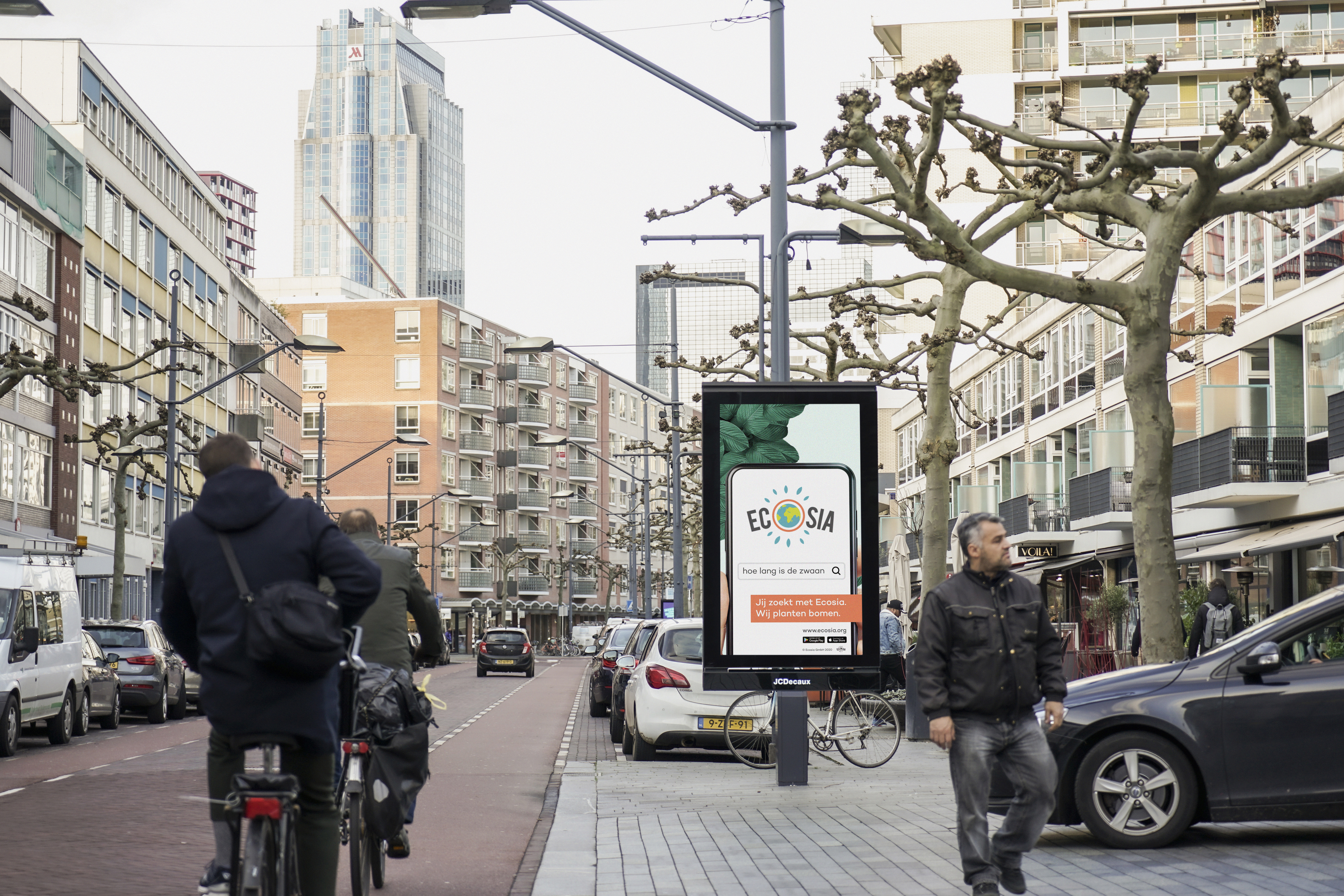 Ecosia kiest JCDecaux voor eerste Out Of Home campagne